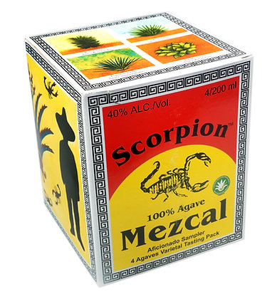 Scorpion Mezcal 4 Pack Tasting Sampler