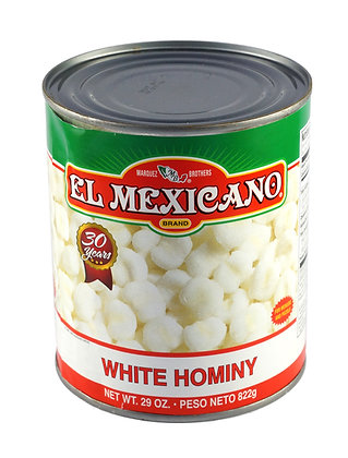 El Mexicano Hominy - Puffy White Mexican Style Corn - 800gm