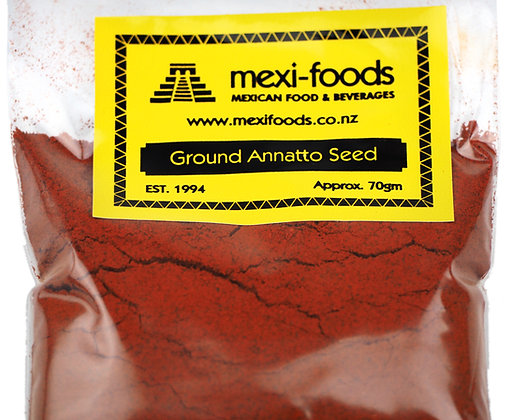 Mexi-foods Ground Annatto Seed - no less than 70gms