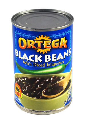 Ortega Mexican Style Black Beans with Jalapenos - 425gm