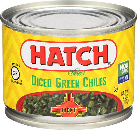Hatch Diced Green Chiles - Hot
