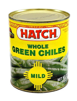 Hatch Flame Roasted Whole Green Chile - 765gm