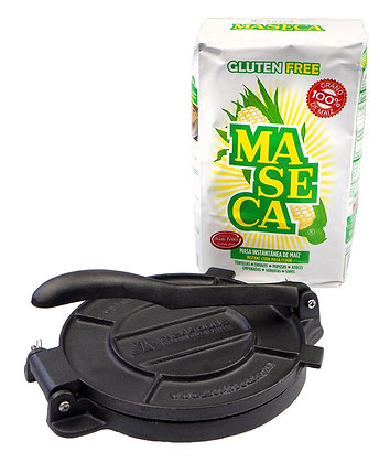 Maseca Instant Corn Masa & Tortilla Press Combo