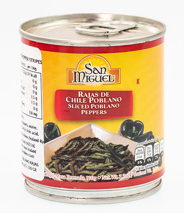 San Miguel Sliced Poblano Peppers - 220gm