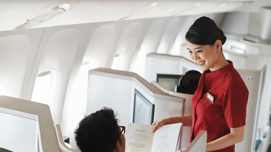 Experiencia de viaje en clase Business de Cathay Pacific