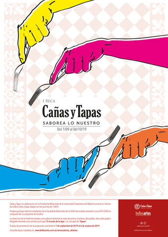 Cañas y Tapas, en colaboración con la Facultad de Bellas Artes de la UCM, lanza su I Beca de apoyo a