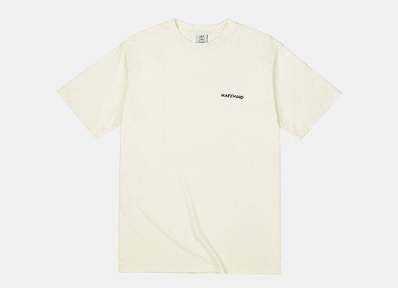 アートワークTシャツ マリーゴールド(アイボリー)