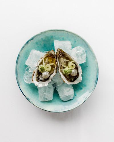 oester - komkommer - appel