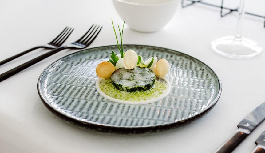 wijting - plattekaas - daslook - pomme soufflé