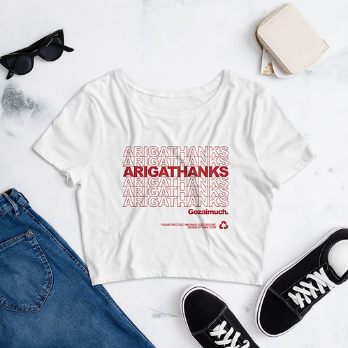ARIGATHANKS Crop Tee
