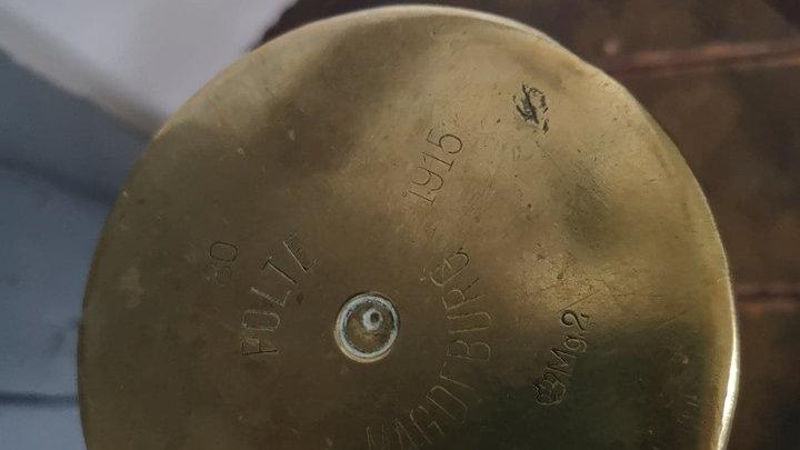 obus en cuivre
