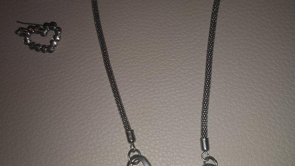 collier fantaisie argenté