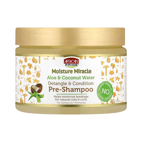 African Pride Moisture Miracle Aloe & Coconut Water Pre-Shampoo - Helps Minimize