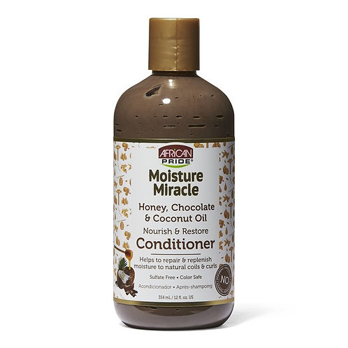 African Pride Moisture Miracle Honey, Chocolate & Coconut Oil Conditioner (12 oz