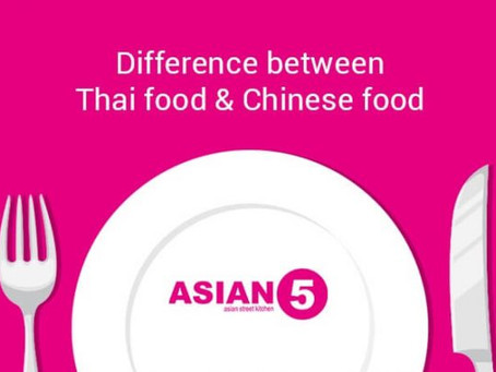Thai and Chinese Food: Six core Differences [Infographic]