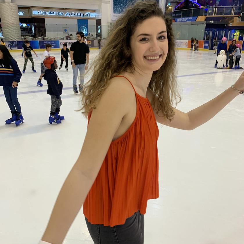 Ice-skating at Dubai Mall