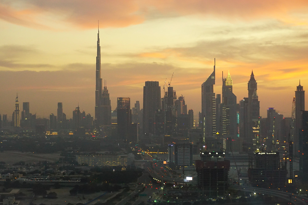 Dubai's skyline from the Frame