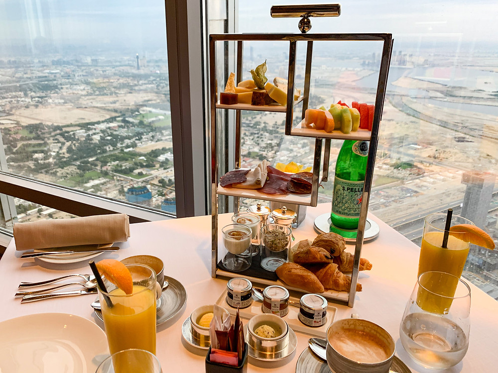 Breakfast at Atmosphere, Burj Khalifa