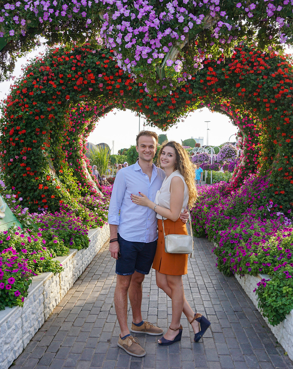 Us at the Dubai Miracle Garden