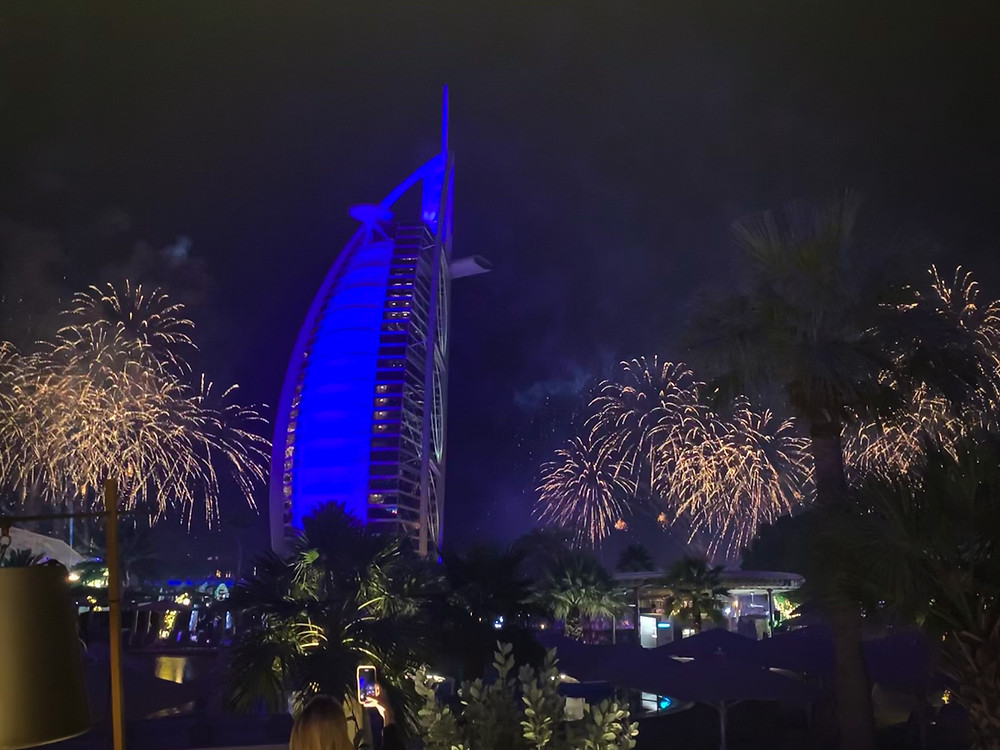 New Year's Eve fireworks at Jumeirah Beach Hotel