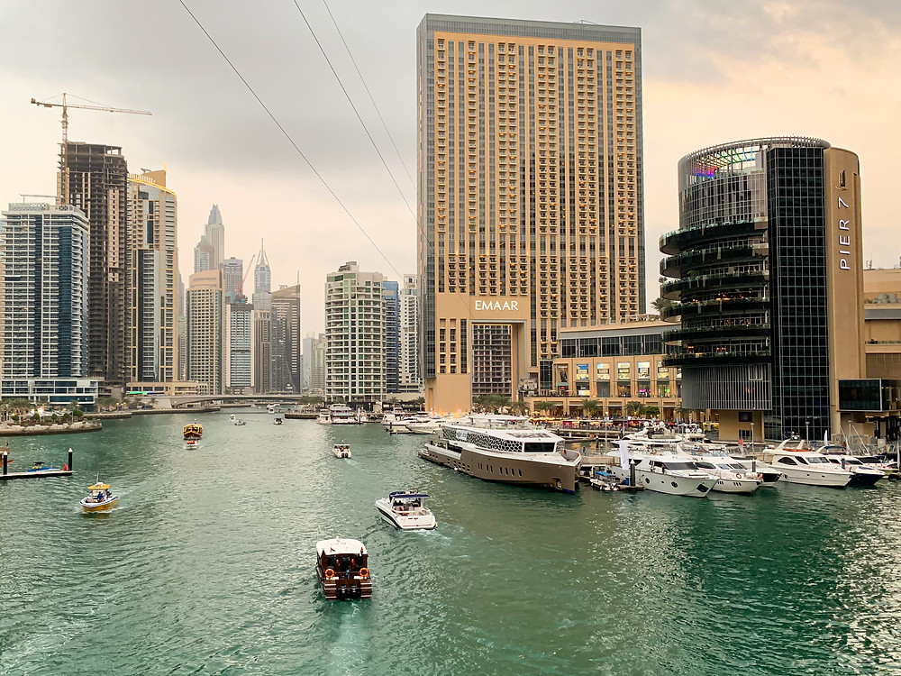 Strolling around Dubai Marina