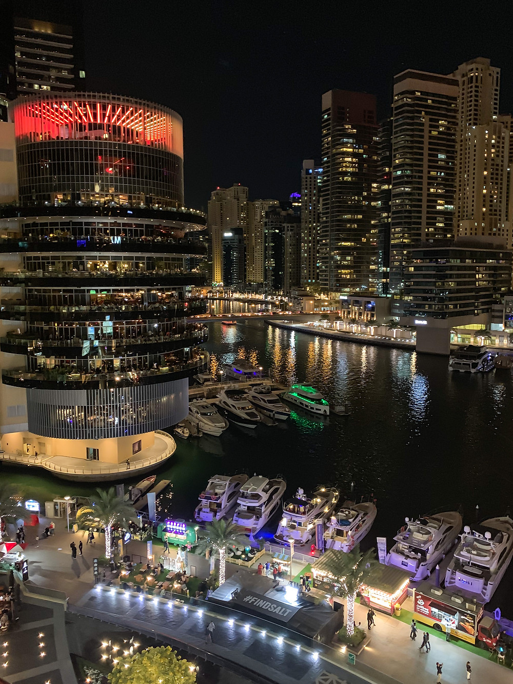 Dubai Marina Walk at night