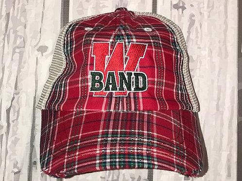 Band Plaid Cap