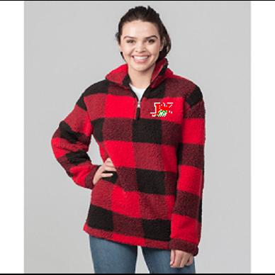 Buffalo Plaid CC Sherpa Pullover