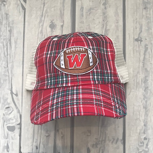 Plaid Football Hat