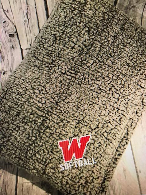 Softball Sherpa Blanket