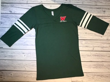 W Softball 3/4 Sleeve Tee