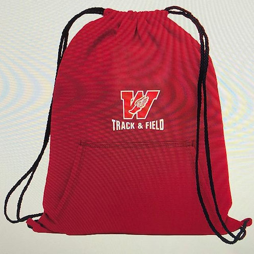 Track & Field Sweatshirt Cinch Bag