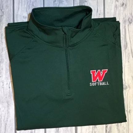 W Softball 1/2 Zip Pullover