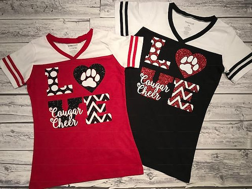 LOVE Cougar Cheer Tee