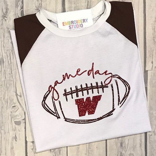 Game day Lace Sleeve Tee