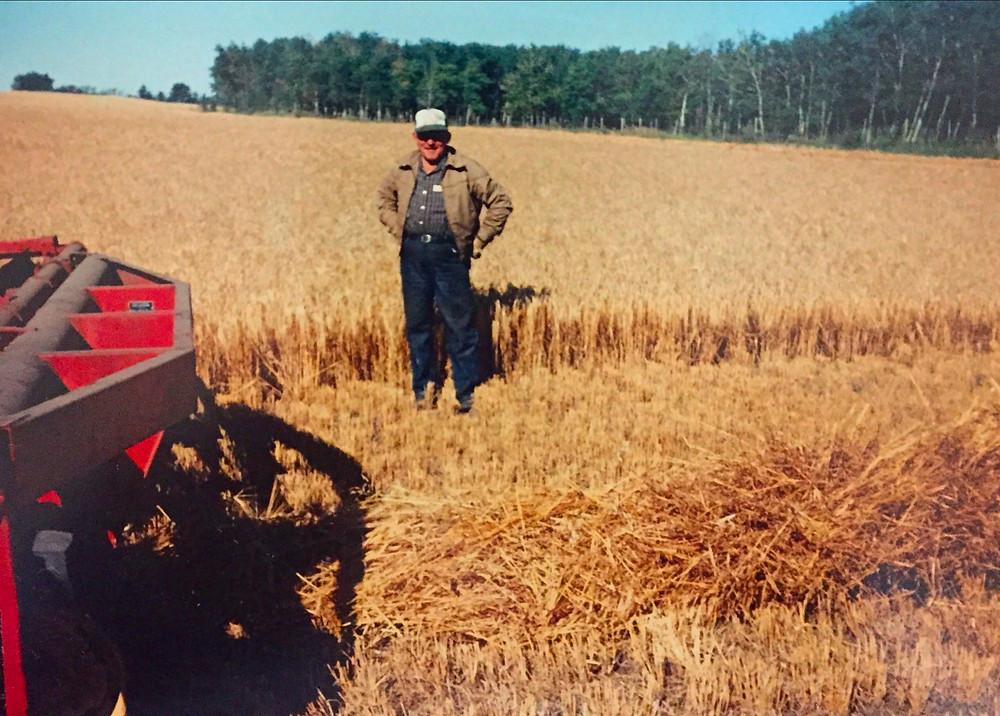 Dad on the farm