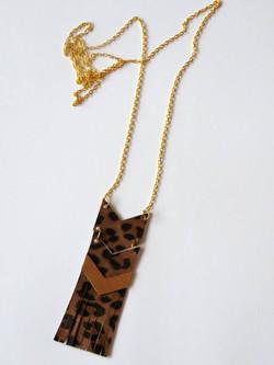leopard/natuurleer/goud