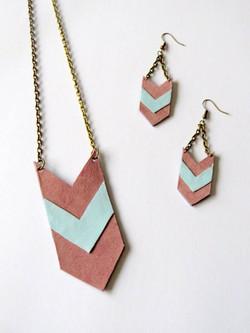 roze/lichtblauw/brons