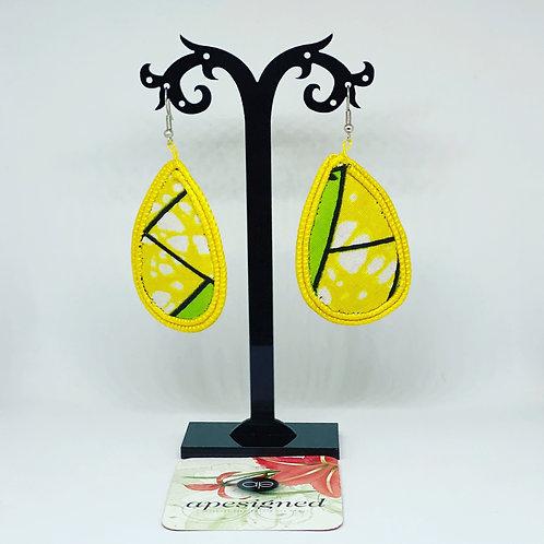 Gloria earrings - yellow/green