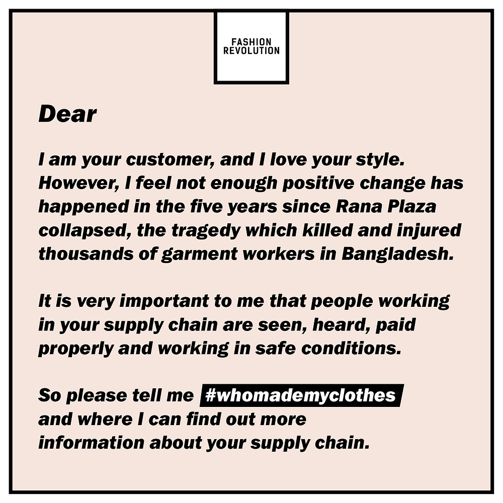 Demandez à vos marques favorites: #WhoMadeMyClothes