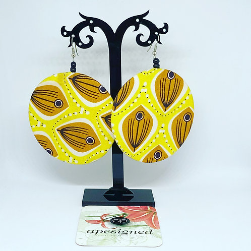 Kalisa earrings - yellow creme