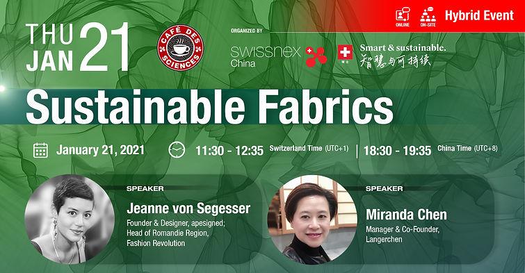 apesigned Sustainable Fabrics swissnex