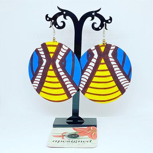 Kalisa earrings - yellow/blue