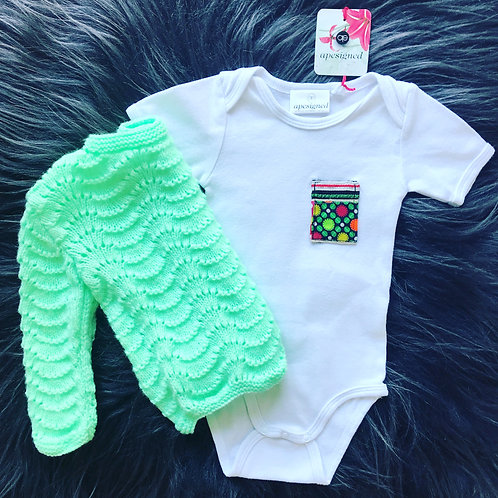 Baby Ensemble Box - white/green