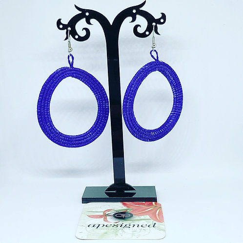 Shema earrings - violet créole