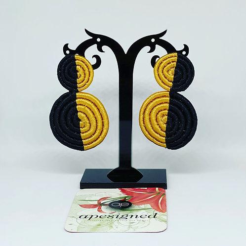 Saida earrings - black/gold