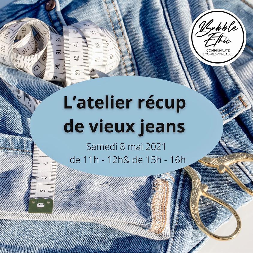 Atelier récup'jeans en sous-verre 2 @Bubble Ethic