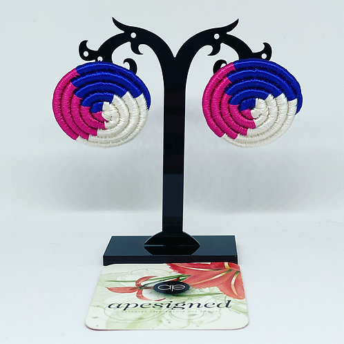 Saida earrings - blue/pink/white