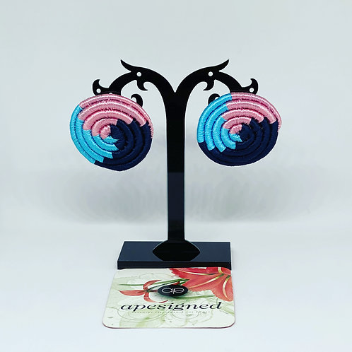 Saida earrings - black/pink/blue