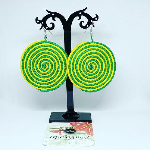 Shema earrings - green/yellow